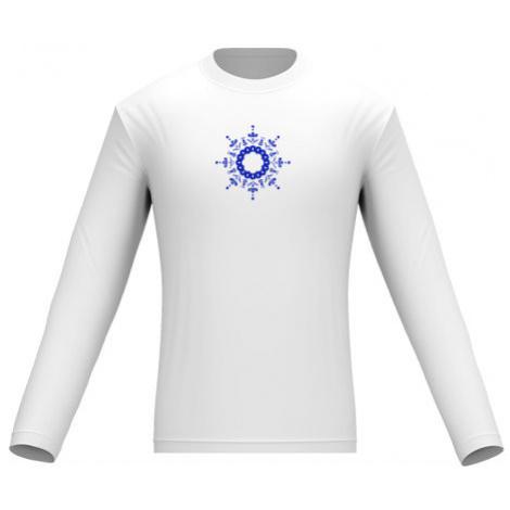 Pánské tričko dlouhý rukáv Kulatý folklorní vzor