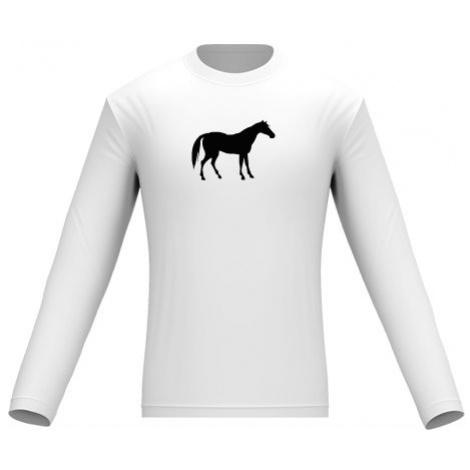 Pánské tričko dlouhý rukáv Kůň