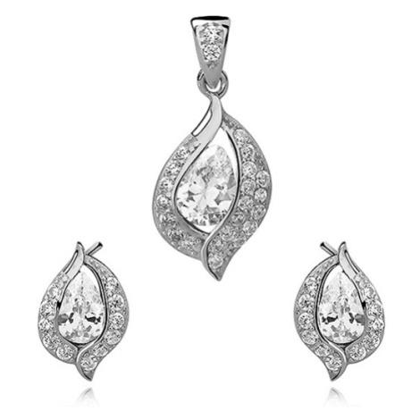 OLIVIE Sada stříbrných šperků se zirkony 2671