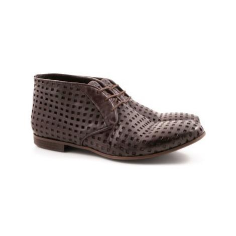 Leonardo Shoes 2580/4(2423) PAPUA FORATO WENGHE Hnědá
