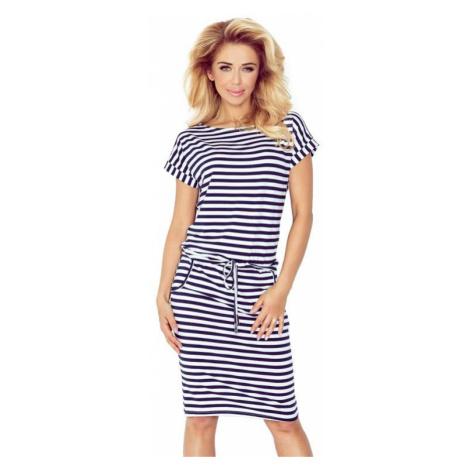 Dámské šaty Numoco 139-2   bílo-modrá