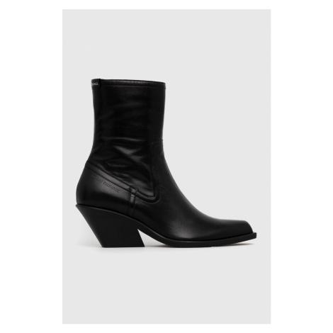 Armani Exchange - Westernové kožené boty
