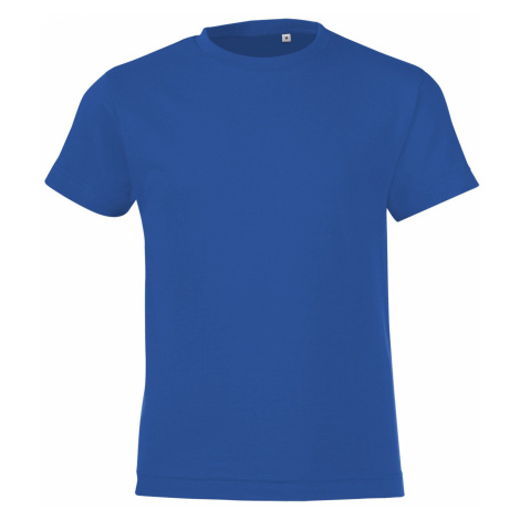 SOLS Dětské triko REGENT FIT KIDS 01183241 Royal blue SOL'S