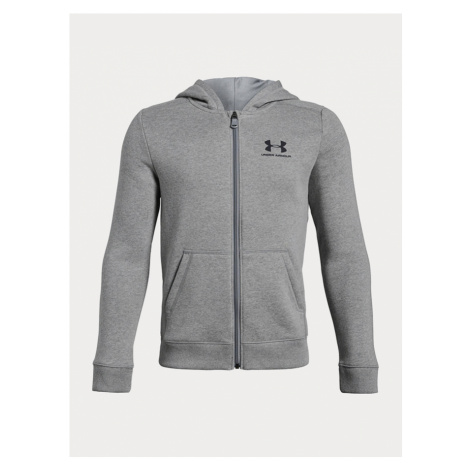 Mikina Under Armour Eu Cotton Fleece Full Zip Šedá