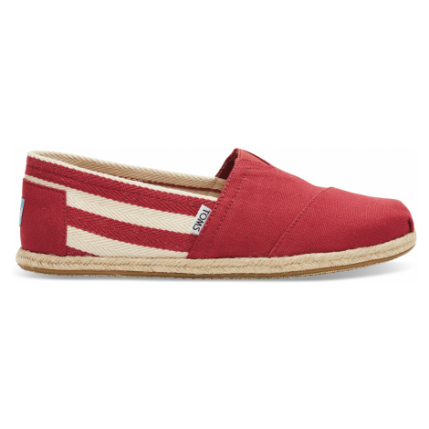 Red Stripe Men's University Classics Toms
