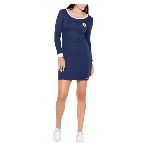 Modré sportovní šaty s dlouhým rukávem Katrus