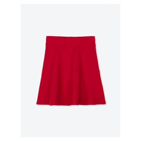 GATE Jednobarevná áčková sukně