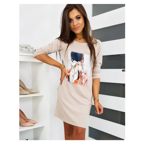 NOEMI beige sweatshirt dress EY1121 DStreet