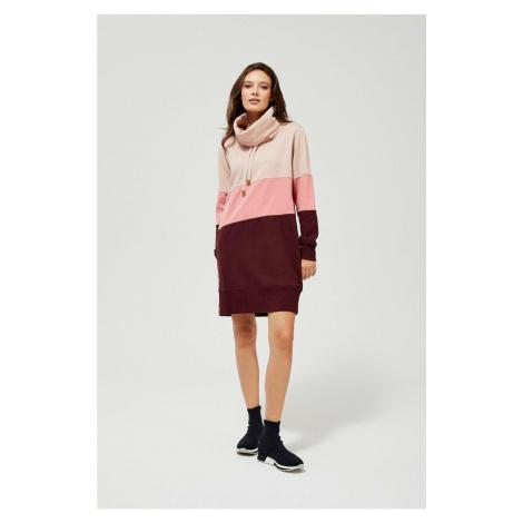 Moodo růžové mikinové šaty