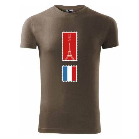 Paříž známka barevná - Viper FIT pánské triko