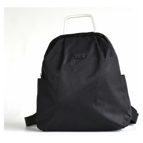 Bright Jemný elegantní batoh A5 látkový s kovovým poutkem černý, 32 x 10 x 36 (BR17-W117-8169-09
