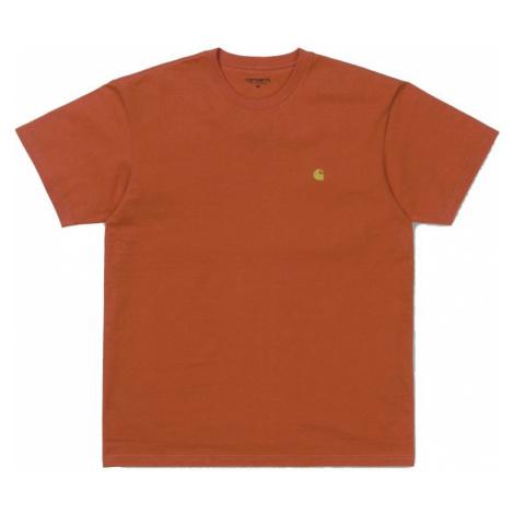TRIKO CARHARTT S/S Chase - oranžová Carhartt WIP