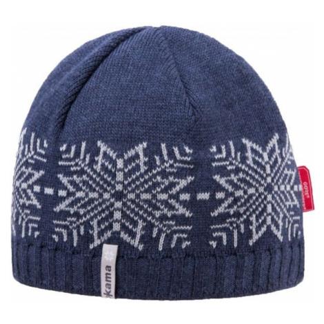 Kama ČEPICE MERINO+WINDSTOPPER tmavě modrá - Pletená čepice