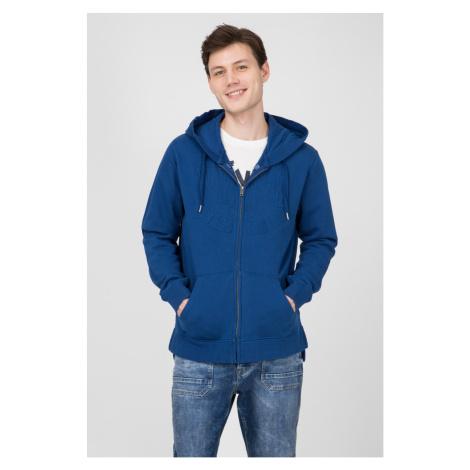 Pepe Jeans pánská modrá mikina s kapucí Evans