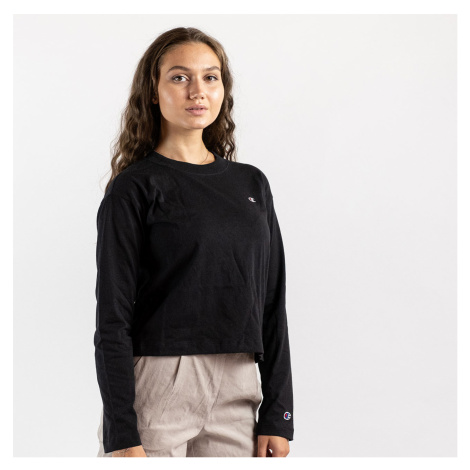 Černé crop tričko Crewneck T-Shirt Champion