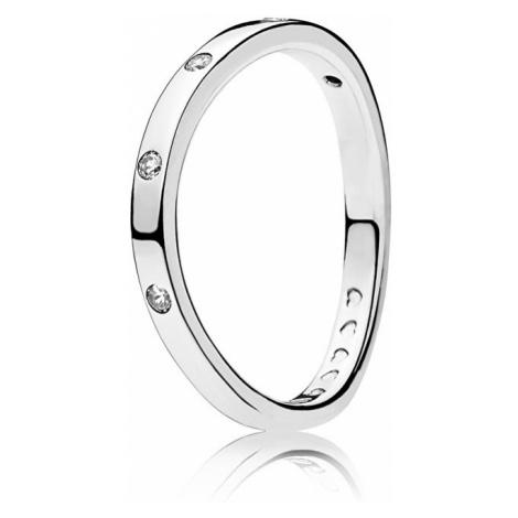 Pandora Stříbrný prsten s třpytivými kamínky 197113CZ