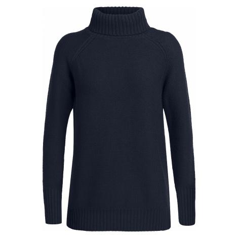 Dámský svetr ICEBREAKER Wmns Waypoint Roll Neck Sweater, Midnight Navy Icebreaker Merino