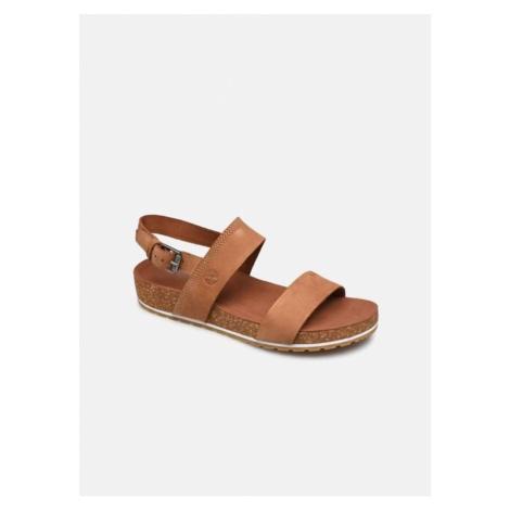 Timberland Timberland dámské hnědé kožené sandále MALIBU WAVES