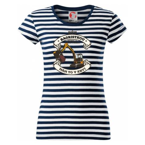 Bagr - Být bagristkou nebyla moje volba - potisk pro ženu - Sailor dámské triko