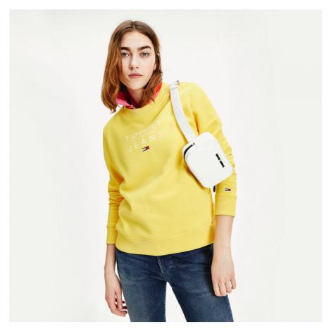 Tommy Jeans dámská žlutá mikina Essential Tommy Hilfiger