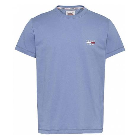Tommy Hilfiger TOMMY JEANS pánské světle modré tričko ORGANIC COTTON SLIM FIT T-SHIRT