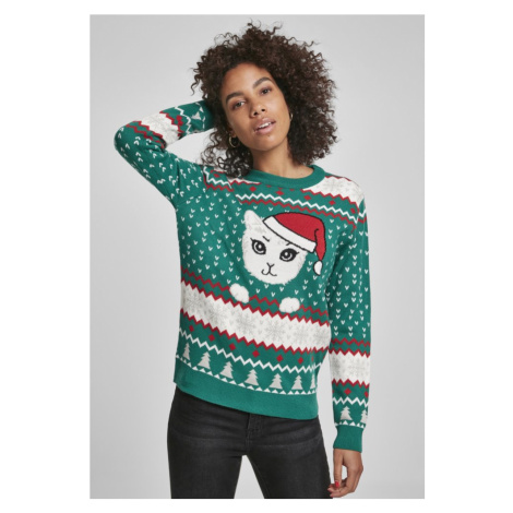 Ladies Kitty Christmas Sweater Urban Classics