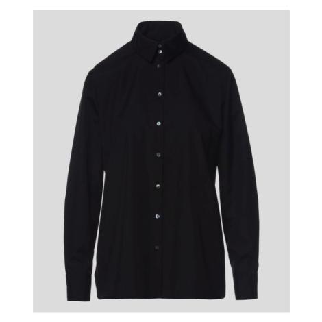 Košile Karl Lagerfeld Embellished Poplin Shirt - Černá