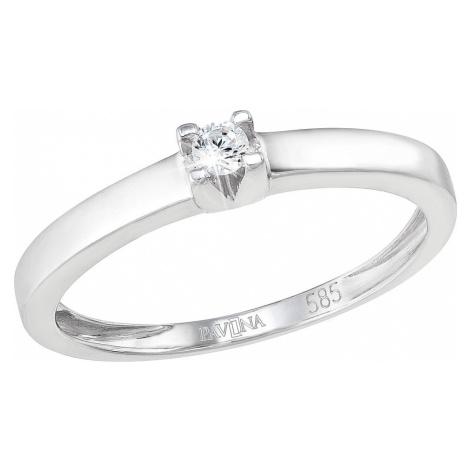 Evolution Group Zlatý prsten 85012.1 bílé zlato s briliantem