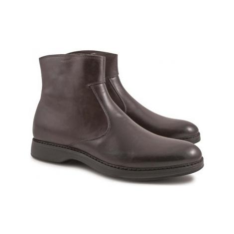 Leonardo Shoes 4846 VITELLO AC CIOCCOLATO I Hnědá