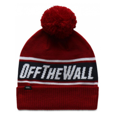 čepice VANS MN OFF THE WALL POM BIKING Red