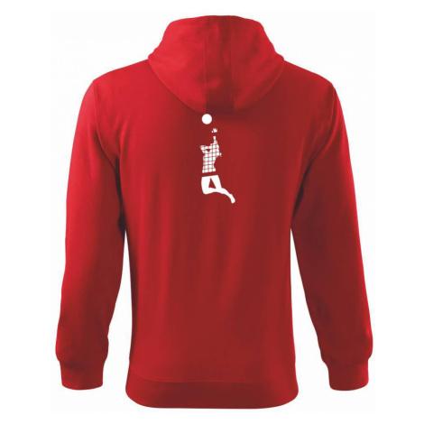 Volejbalistka síť - Mikina s kapucí na zip trendy zipper