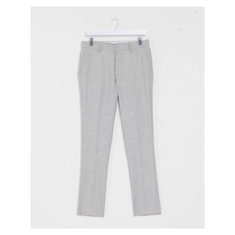 New Look skinny suit trouser in light grey