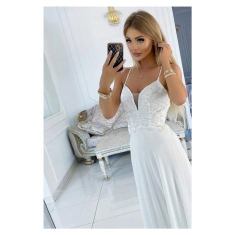 Bílé dlouhé šaty Mona Lisa