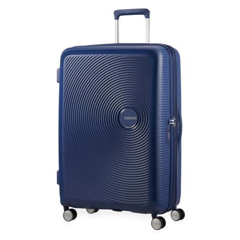 American Tourister Cestovní kufr Soundbox Spinner EXP 32G 97/110 l - tmavě modrá