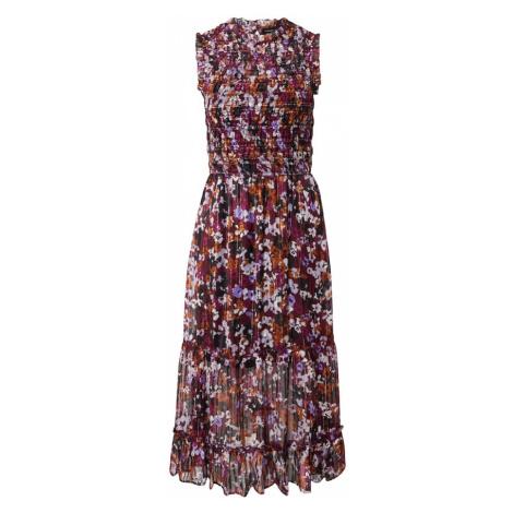 Dorothy Perkins Letní šaty šeříková / tmavě oranžová / béžová / černá / rubínově červená