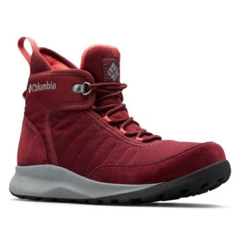 Columbia NIKISKI 503 červená - Dámská zimní obuv