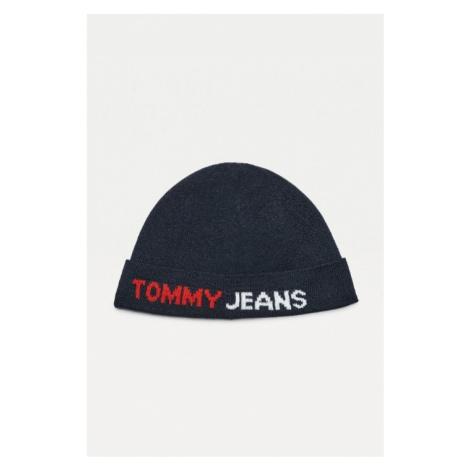 Tommy Hilfiger Tommy Jeans pánská modrá čepice TJM LOGO TAPE SHORT BEANIE