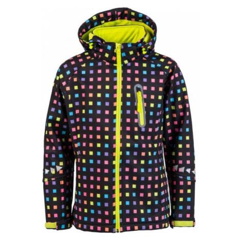 Lewro ELVIRA černá - Dívčí softshellová bunda