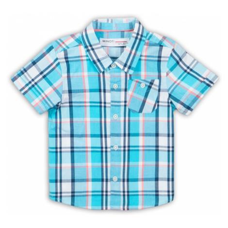 Košile chlapecká s krátkým rukávem, Minoti, Crab 6, modrá