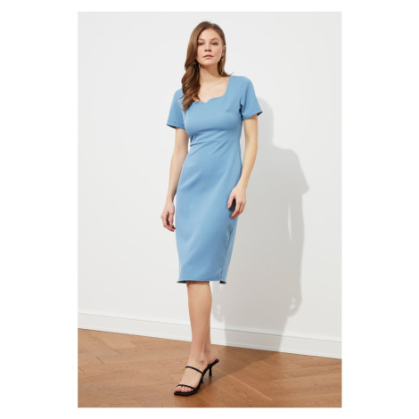 Trendyol Blue Short Sleeve Dress
