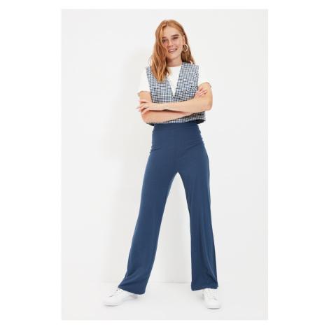 Trendyol Indigo Corduroy Knitted Trousers