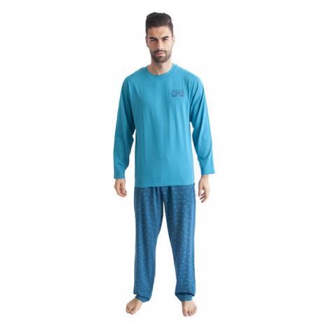 Pánské pyžamo Gino tyrkysové (79089)