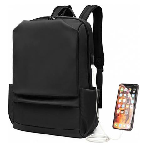 Černý praktický voděodolný batoh s USB portem Isai Lulu Bags