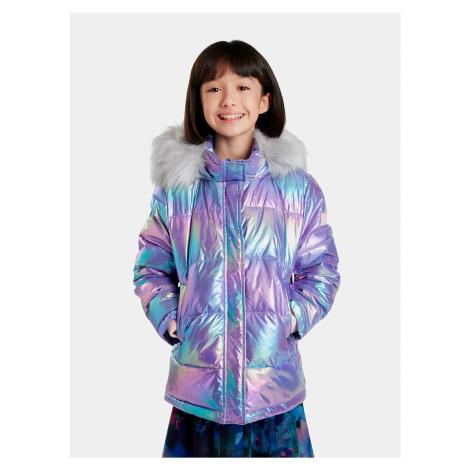 Modro-fialová holčičí metalická bunda Desigual Yang Tse