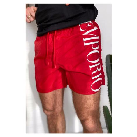 Emporio Armani Underwear Emporio Armani plavky pánské - červené