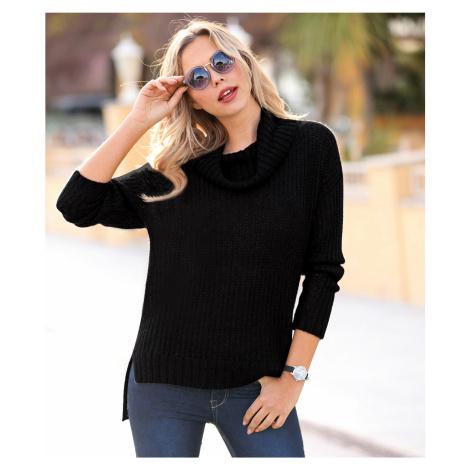 Oversize pulovr s rolákem černá