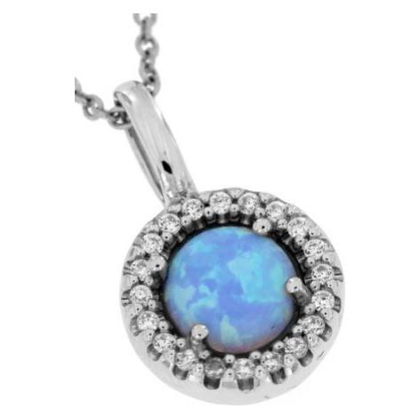 Stříbrný přívěsek s modrým opálem AP7644