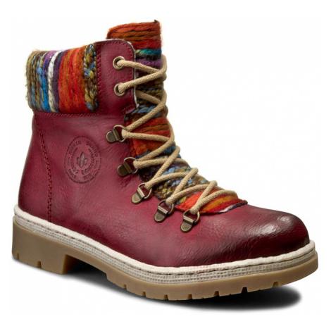 Turistická obuv RIEKER - Y9432-35 Red Kombi