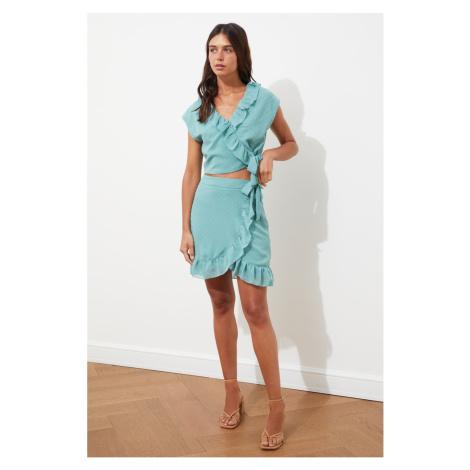 Trendyol Mint Ruffle Skirt