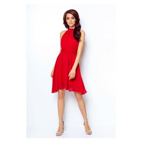 Dámské šifónové šaty v červené barvě 216 IVON